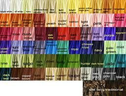 Colored Cotton Fabric Shower Curtains In 66 Colors