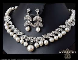 bridal necklace set pearl images Pearl bridal necklace crystal pearl necklace vintage style jpg
