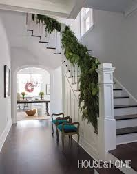 Christmas Banister Garland Ideas Inspired Christmas Stairways The Inspired Room