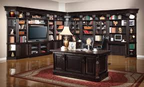 six piece entertainment library wall group with 50 inch console