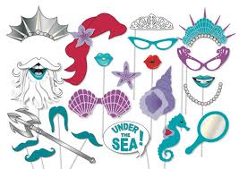mermaid party photo booth props printable sea
