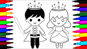 how to draw little king and queen coloring pages l drawing videos