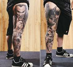 leg tattoos to make you jump with joy