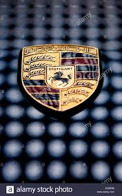 porsche logo a close up picture of a porsche badge stock photo royalty free