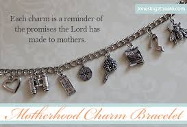 lds gifts motherhood charm bracelet jonesing2create