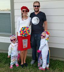 family halloween costume lisa frank pregnant mama gumball machine
