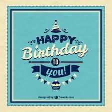 imagenes fotos retro retro happy birthday card vector free download