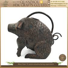 rustic cast iron counter pig novelty garden ornaments money metal