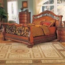 Metal Sleigh Bed Cherry Sleigh Bed Queen Foter