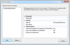 Sql Server Create Table Example Set Database Constraints Using Sql Server Management Studio Table