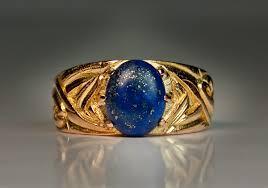 men vintage rings images Vintage men 39 s rings art nouveau gold and lapis men 39 s ring jpg