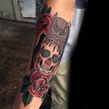 Forearm Skull - skull tattoos forearm sleeve designs arm