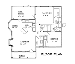 Southern Style House Plans by Southern Style Home One Level 1094 Sq Ft Open Floor Plan 2 Bed