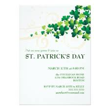 st patricks day invitations u0026 announcements zazzle