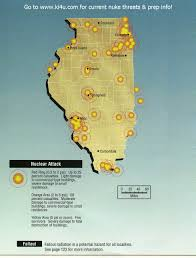 Chicago Il Map by Nuclear War Fallout Shelter Survival Info For Illinois With Fema