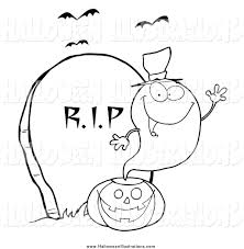 royalty free stock halloween designs of coloring book pages