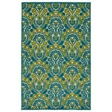Yellow And Blue Outdoor Rug 9 X 12 Blue Outdoor Rugs Rugs The Home Depot