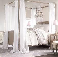 Sheer Bed Canopy Sheer Belgian Linen Bed Canopy Panels Set Of 2 Drapery