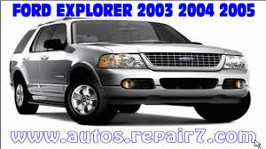 ford explorer 2003 2004 2005 manual de reparacion mecanica youtube