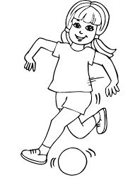 soccer coloring running ball