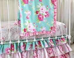 Pink And Teal Crib Bedding Crib Bedding Sets Etsy