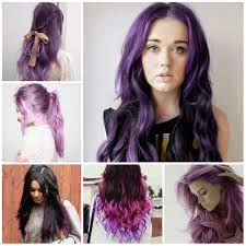 super trendy purple hair colors 2016 female haircuts and
