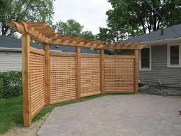 deck with planters and lattice privacy screens practical outdoor