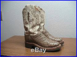 womens quill boots womens 8 5 b lucchese brown quill ostrich