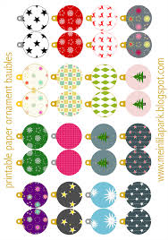 free printable christmas ornaments baubles ausdruckbarer
