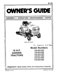 mtd lawn mower 140 848 000 user guide manualsonline com