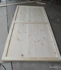 How To Build Sliding Barn Door by Diy Sliding Closet Door My Creative Days