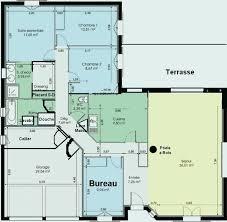 plan maison 100m2 3 chambres plan maison plain pied 110m2 fresh plan maison plain pied 100m2 3