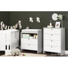 South Shore Changing Table South Shore Cookie Changing Table Dresser Soft Gray And White