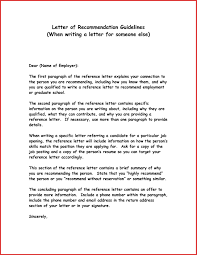 example of a reference letter gallery letter format examples