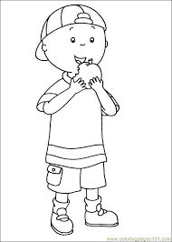 12 caillou pages images caillou drawings