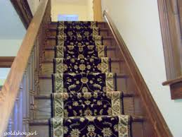 Rug Runner For Stairs Gold Shoe Installing A Stair Runner