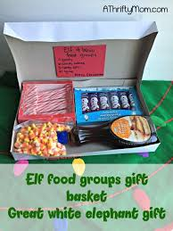 elf gift package 4 food groups elf inspired gifts white