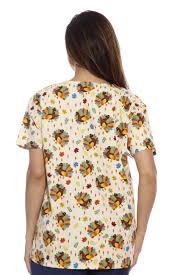 halloween scrubs dreamcrest women u0027s scrub tops holiday scrubs nursing scrubs ebay