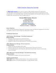 Mba Resume Example Cover Letter Sample Resumes For Freshers Sample Resumes For