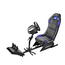 siege baquet gaming subsonic src500 driving cockpit bleu fauteuil gamer subsonic sur