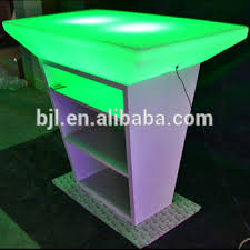 stand up bar table outdoor portable bar furnitures 16 colors changing supply light up