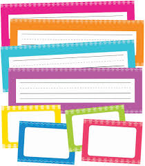 printable name tags just teach neon printable nameplates name tags grade pk 5