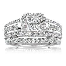 Princess Cut Wedding Ring by