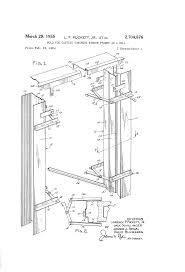 patent us2704876 mold for casting concrete window frames in a
