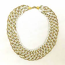 gold braided necklace images Turquoise braided necklace uweza foundation jpg