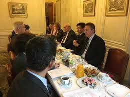 bureau de repr駸entation de taipei en 張銘忠大使應邀至法國參議院參加台法關係早餐座談 駐法國台北代表處