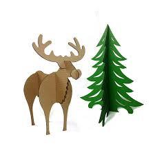 3d puzzle tree reindeer decoration model diy