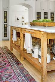 stylish kitchen island ideas southern living natural marble topped island