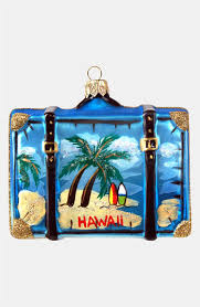 nordstrom at home hawaii glass suitcase ornament nordstrom