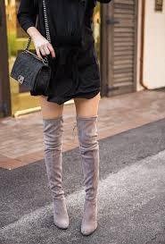 black dress and boots krystal schlegel